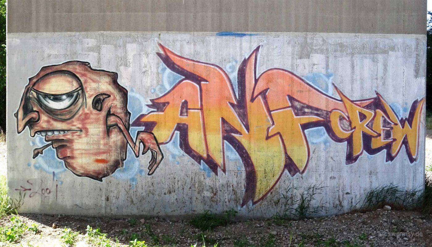Graffiti Talbrücke Pfeddersheim ANFCREW