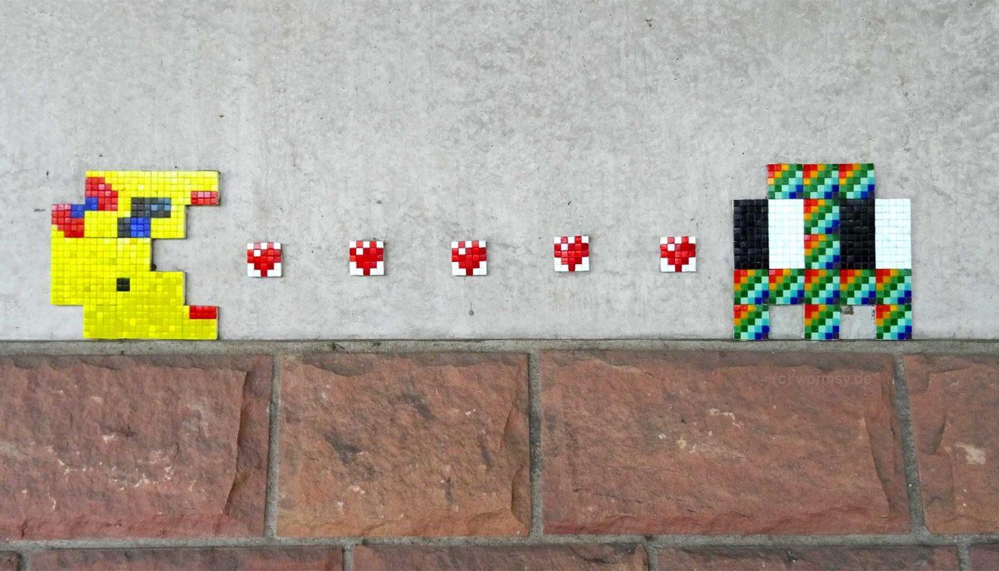 StreetArt von Invader (Space Invaders) in Worms