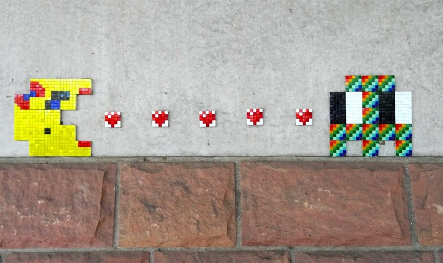 StreetArt Piece von Invader in Worms