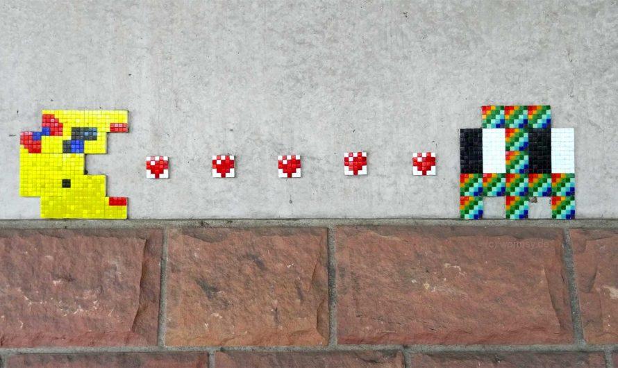 StreetArt Piece von Invader in Worms
