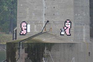 PixelArt Alte Nibelungenbrücke Worms