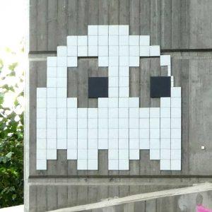 PixelArt Neue Nibelungebrücke Worms (Hessische Seite)