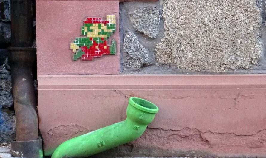 Mehr Pixelart Graffiti in Worms