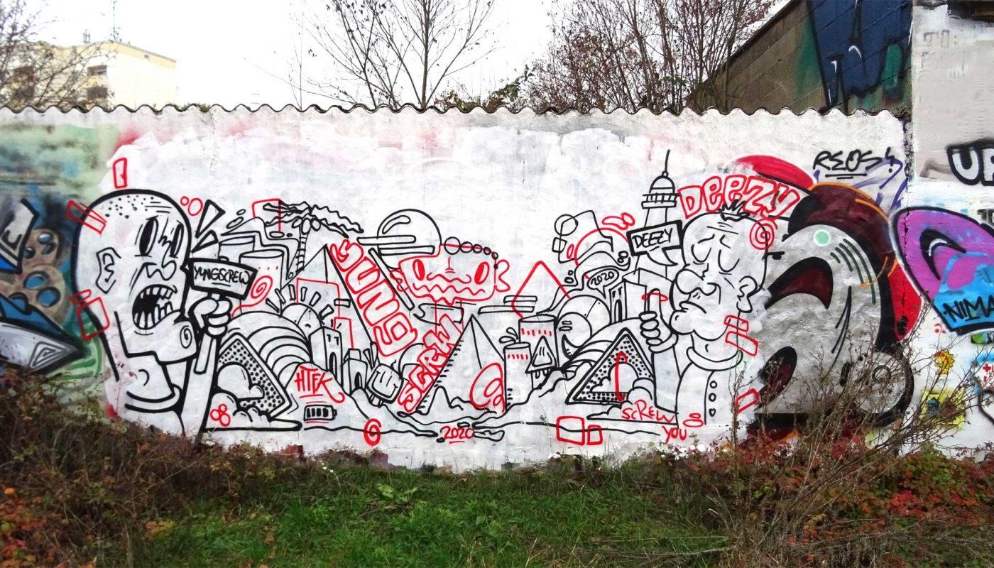 Graffiti Worms Hof November 2020 Yung Screw Deezy