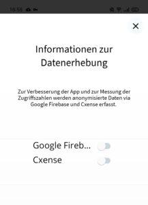 WZ App Datenerhebung Screenshot