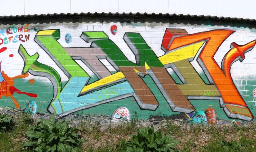 Danke für die Ostereier an der Graffiti HoF Worms!